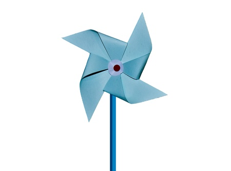 The Paper pinwheel isolated on white background