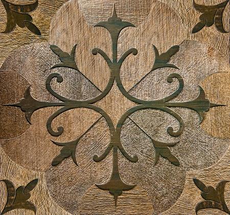Le color� de fond vieux plancher en c�ramique