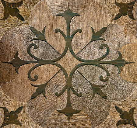 The Colorful of old ceramic floor background