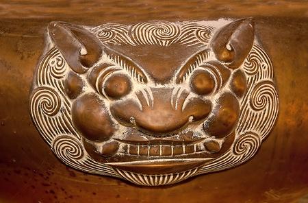 The Old steel tiger Incense burner photo