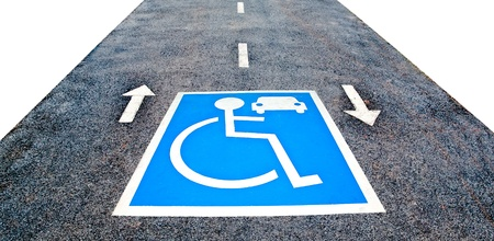 The Reserved car park for handicapped photo
