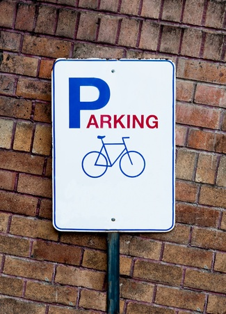 The Guidepost of bicycle parking photo
