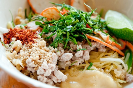 The Noodles of sukothai style in thailand Stock Photo - 12624493