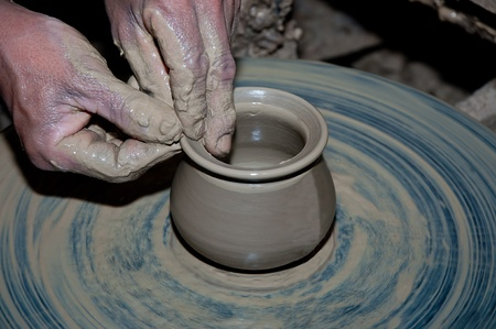 The Process pottery of  earthenware photo