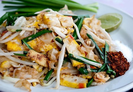 The Favorite stir fried noodle thai style is name Pad Thai photo