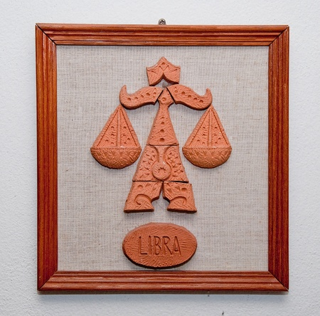 earthenware: The Libra horoscope sign made from Earthenware