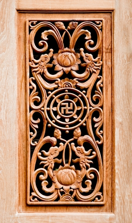 The Carving wood of pattern chinese style Stock Photo - 12974056