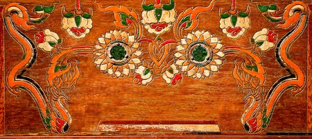 The Carving wood of thai style photo