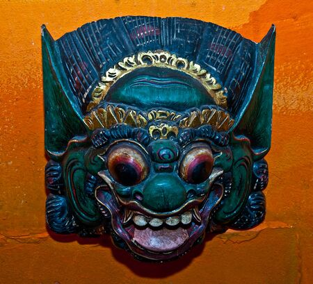 The Traditional Balinese mask photo