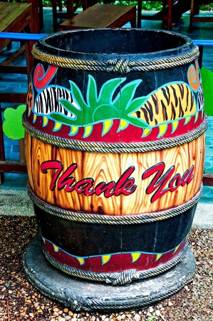 The Colorful of  trashcan photo