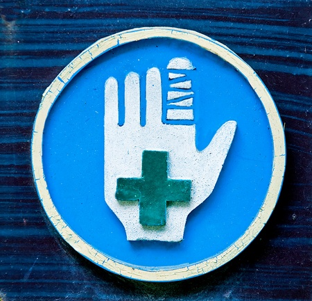 The Sign of first aid photo