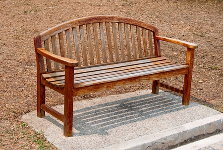 The Wooden bench photo