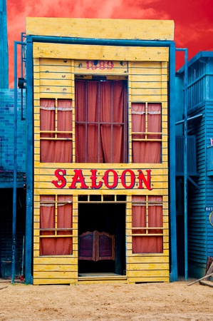 ghost town: The Historic Saloon close-up