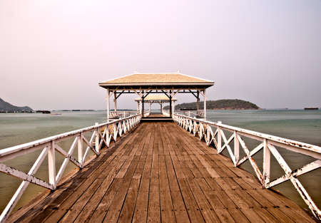 The Beautiful old bridge on Sri chang island at sriracha ampor ,chonburi province,Thailand photo