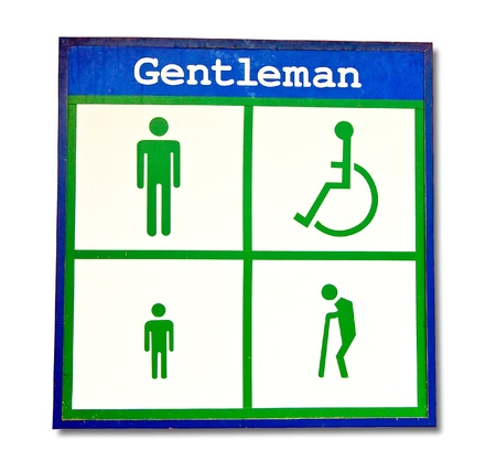 The Lightbox  restroom of gentleman isolated on white background photo