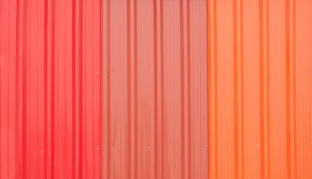 Le toit de m�tal color�