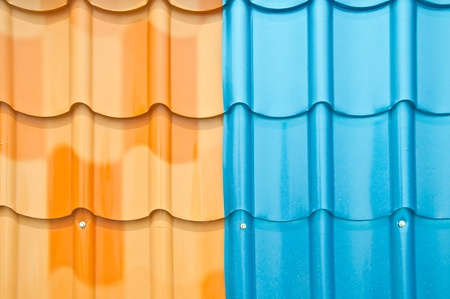 coate: The Colorful roof metal Stock Photo