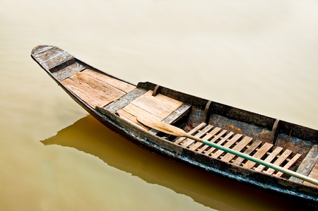 punt: The Old boat in thailand Stock Photo