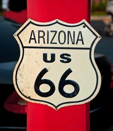 The Route 66 sign, Arizona, USA photo