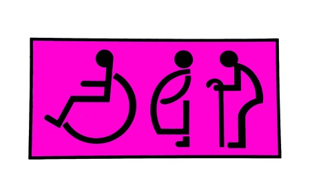 The Sign of restroom isolated on white background Stock Photo - 13422462