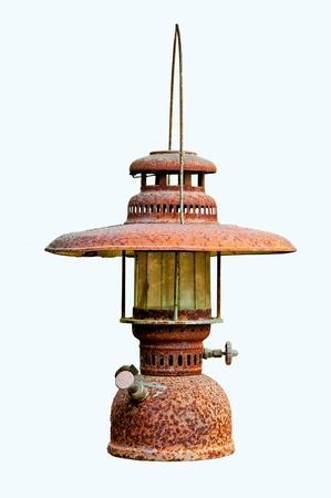 candil: La lámpara de parafina aisladas sobre fondo blanco
