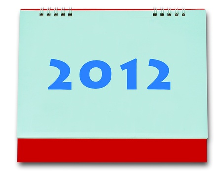 The Blank of calender 2012 isolated on white background photo