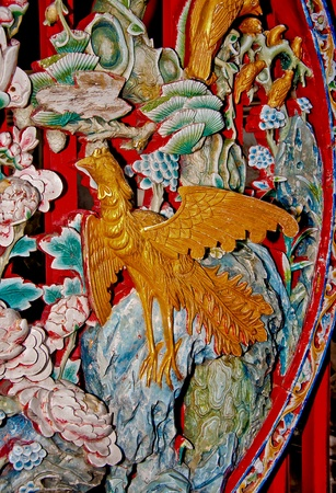 The Colorful of phoenix  of joss house photo