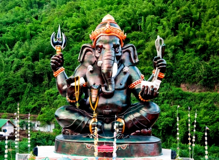 The Sculpture of ganesha photo