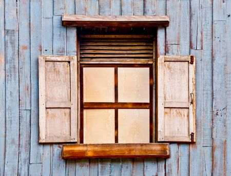 The Old wooden window photo