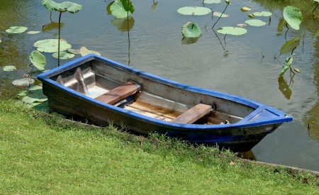 The Old boat on the river photo