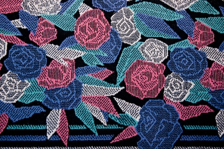 The Pattern rose on rug background photo
