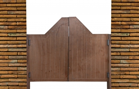 Old Western swinging saloon wooden doors photo