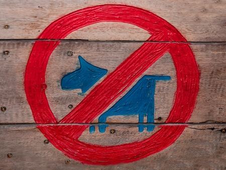No allowed pet sign photo