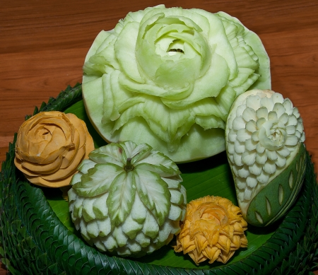 Closeup Carving fruit photo