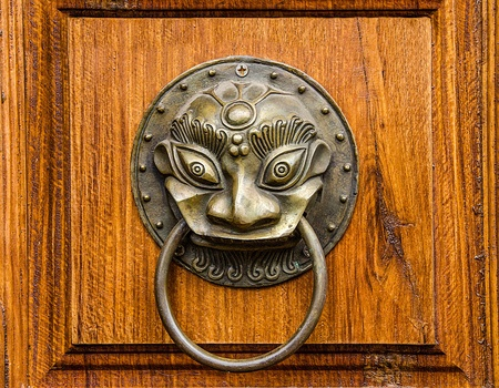 The Vintage knocker of dragon photo