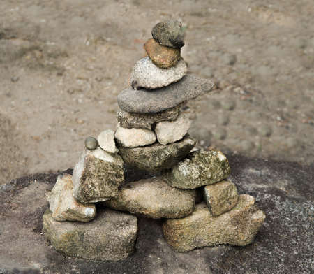 Stacked Stones of zen style photo