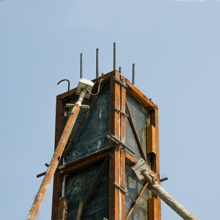 Casting concrete pole on site construction Stock Photo - 17678327