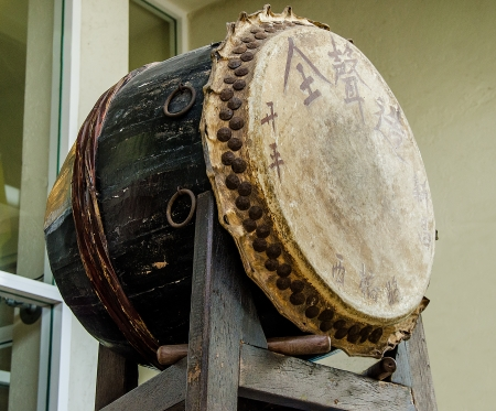 chinese drum: Old drum of chinese style Editorial