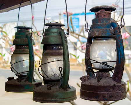 paraffine: Oude petroleumlamp Stockfoto