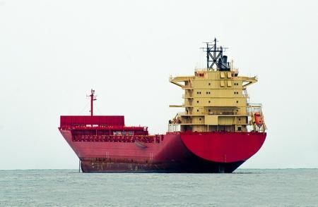 The Big boat of oil tanker Stock Photo
