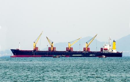 Big boat of oil tanker