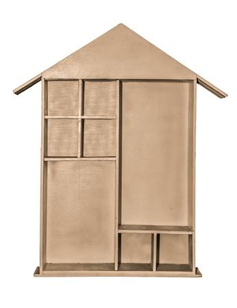 Wooden shelf isolated on white background Stock Photo - 19131543