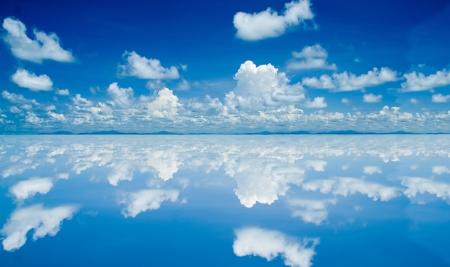 Nuage blanc sur fond de ciel