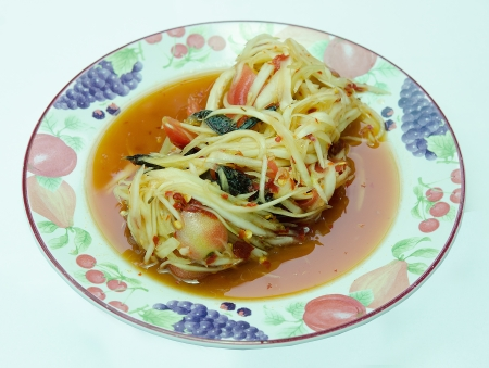 Papaya salad with pickled crab Stock Photo - 19895081