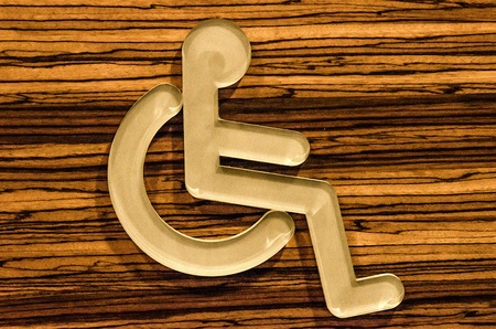 Sign of public restroom for handicapped photo