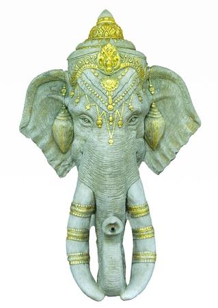 indian god: Ganesha isolated on white background Stock Photo
