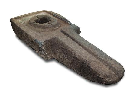 linga: Carving stone lingam isolated on white background