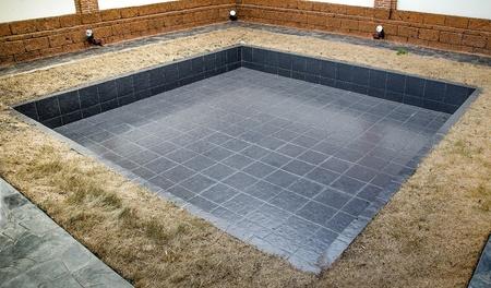 Empty of pool Stock Photo