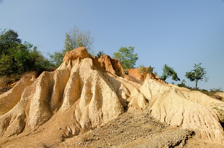 Soil column in phare province,at the north of Thailand