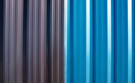 coate: Colorful roof metal Stock Photo